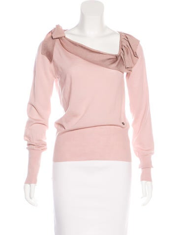 Salvatore Ferragamo Long Sleeve Knit Top None