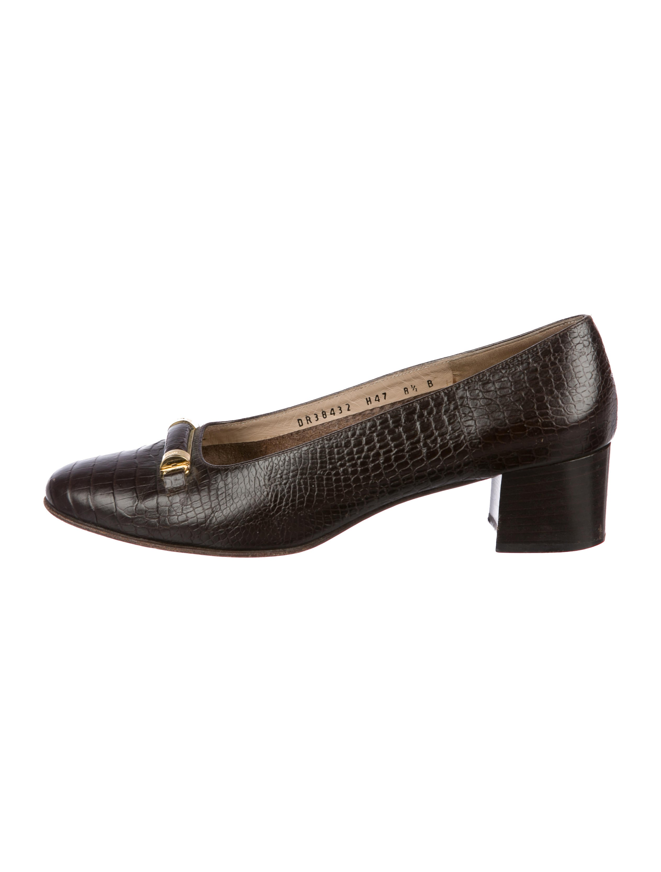 factory outlet online quality free shipping for sale Salvatore Ferragamo Embossed Square-Toe Loafers clearance online cheap sale limited edition tduCve2t