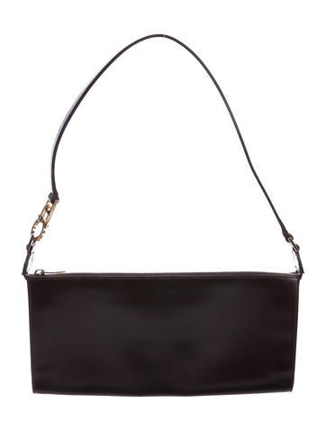 Salvatore Ferragamo Leather Zip Shoulder Bag None