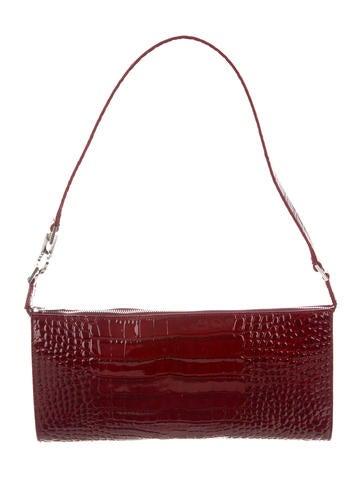 Salvatore Ferragamo Embossed Patent Leather Bag None