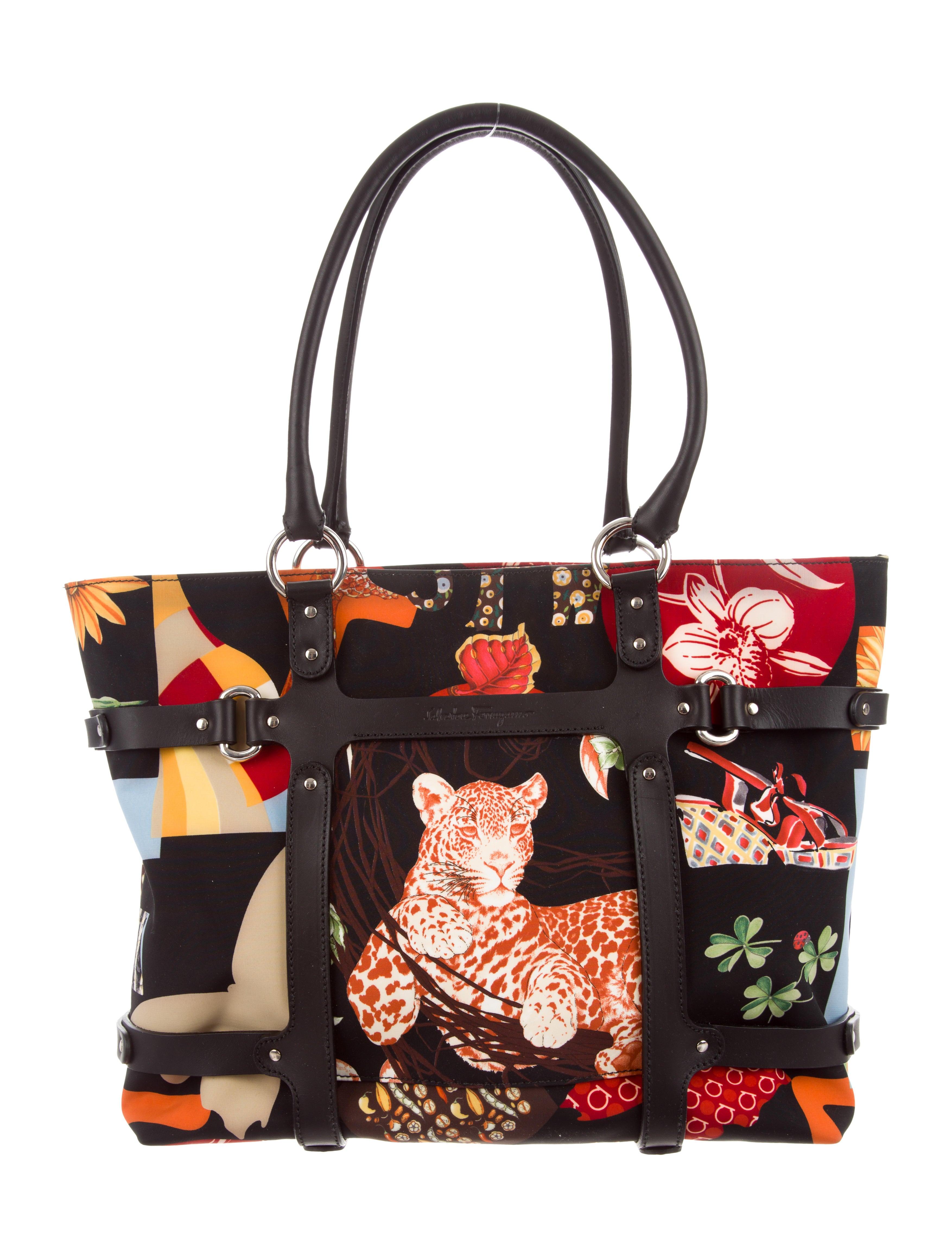 99095274af Salvatore Ferragamo Fiera Printed Tote - Handbags - SAL60070