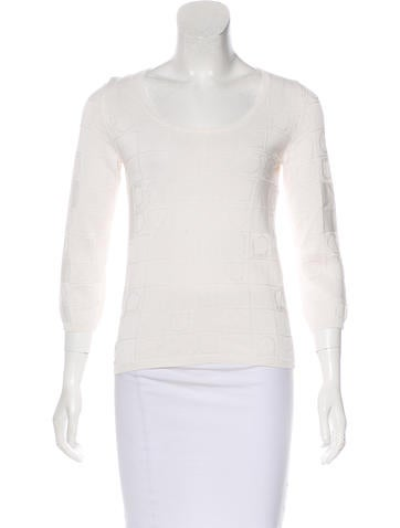 Salvatore Ferragamo Jacquard Knit Top None