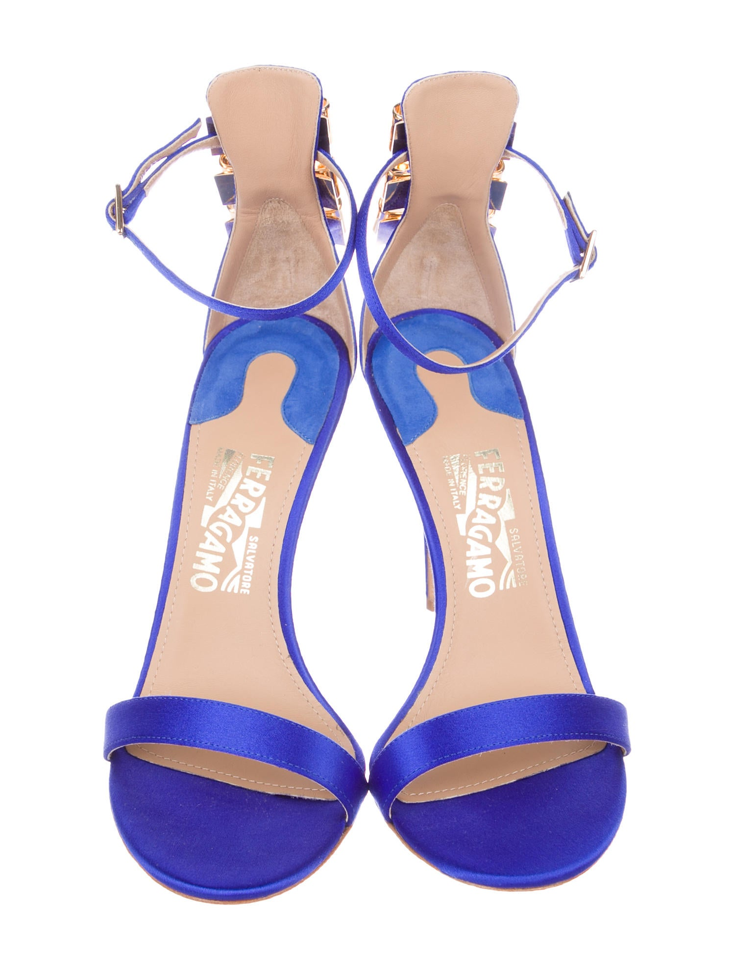 Salvatore Ferragamo Satin Angie Sandals w/ Tags free shipping latest collections many kinds of sale online free shipping prices cheap sale best place i5K2V