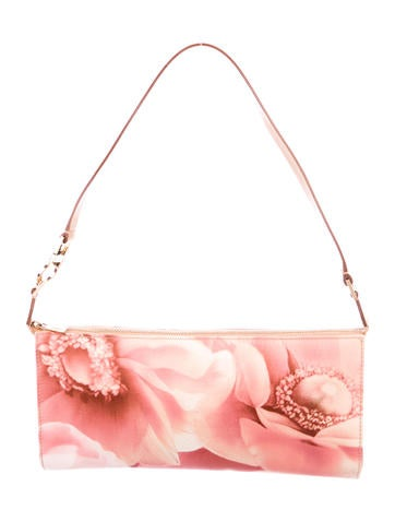 Salvatore Ferragamo Leather-Trimmed Printed Floral Bag None