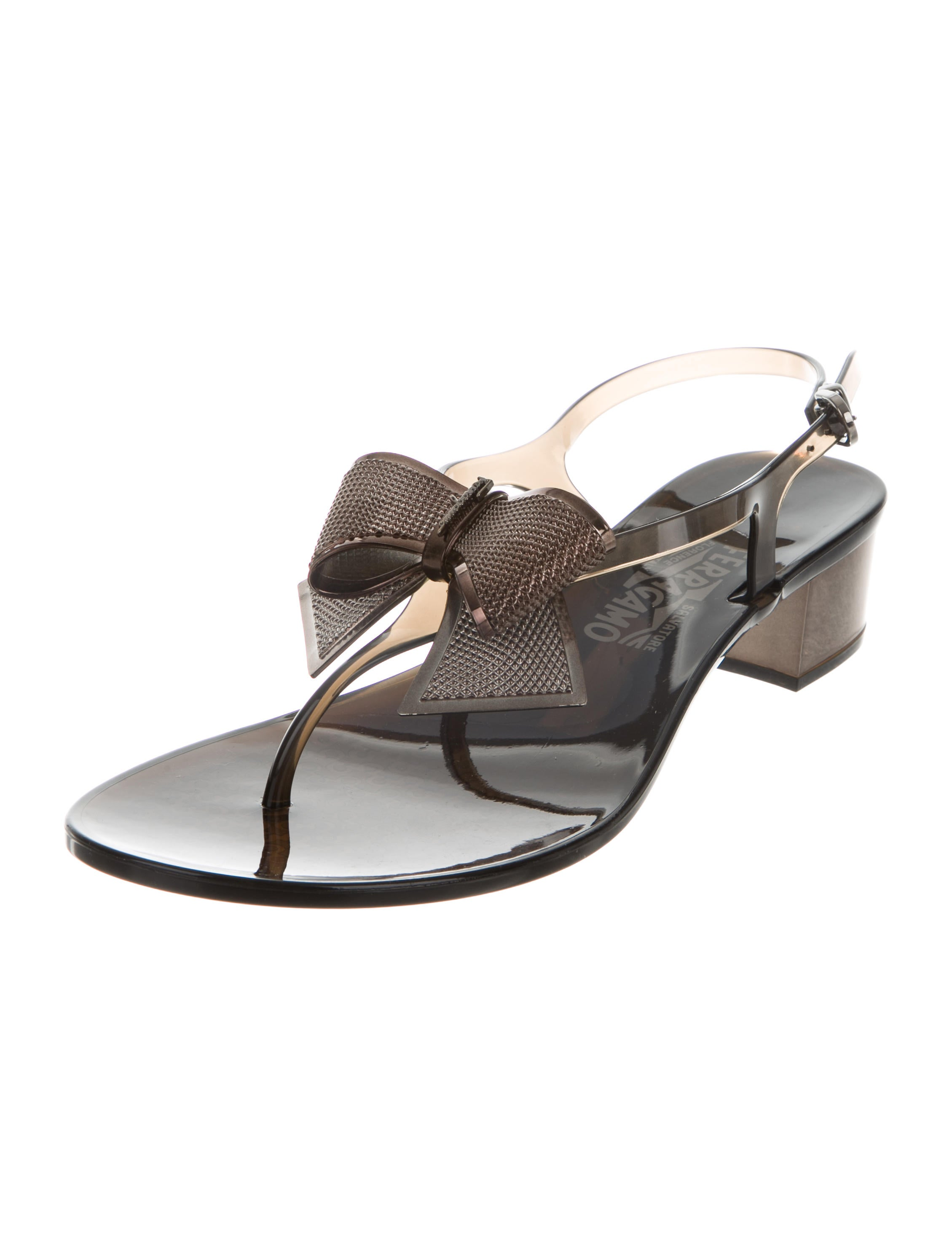buy cheap manchester great sale best store to get Salvatore Ferragamo Bow-Accented Thong Sandals w/ Tags buy cheap best wholesale under $60 online limited edition online ox81g