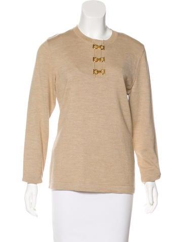 Salvatore Ferragamo Wool Long Sleeve Sweater None