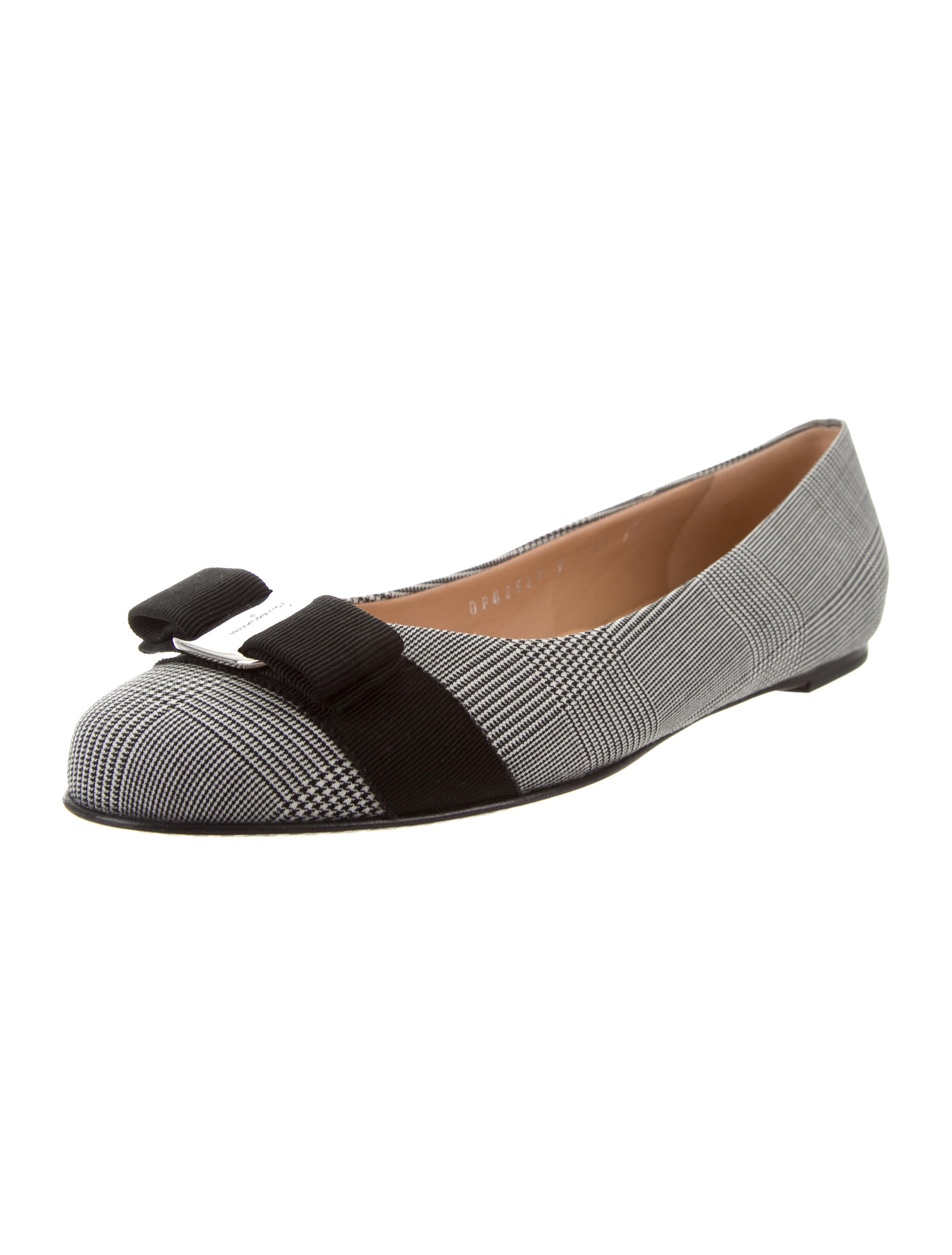 Salvatore Ferragamo Glen Plaid Bow Flats for sale free shipping Is2rzgL4