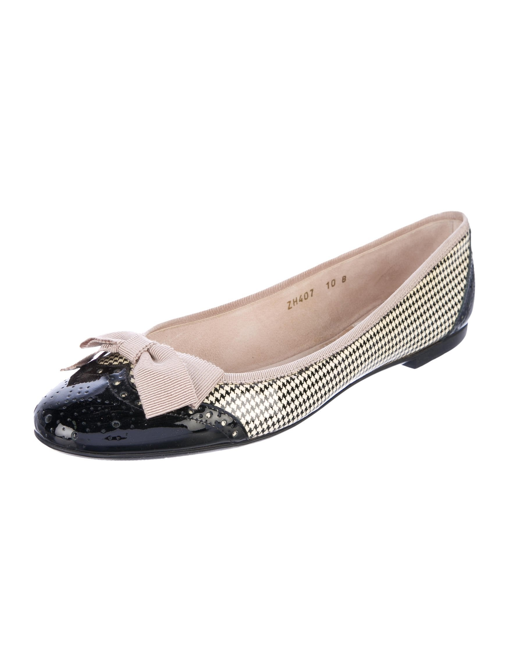 cheap deals Salvatore Ferragamo Houndstooth Brogue Flats clearance visit discount affordable official site cheap price Z6TJgjImGb
