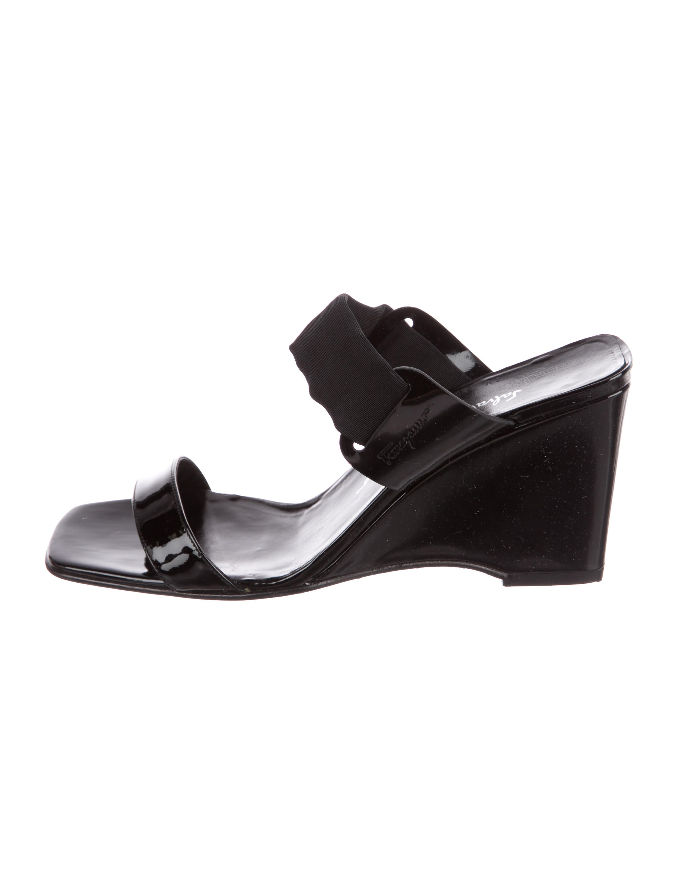 Salvatore Ferragamo Floretta Slide Wedges new sale online 3D1xwDCbv