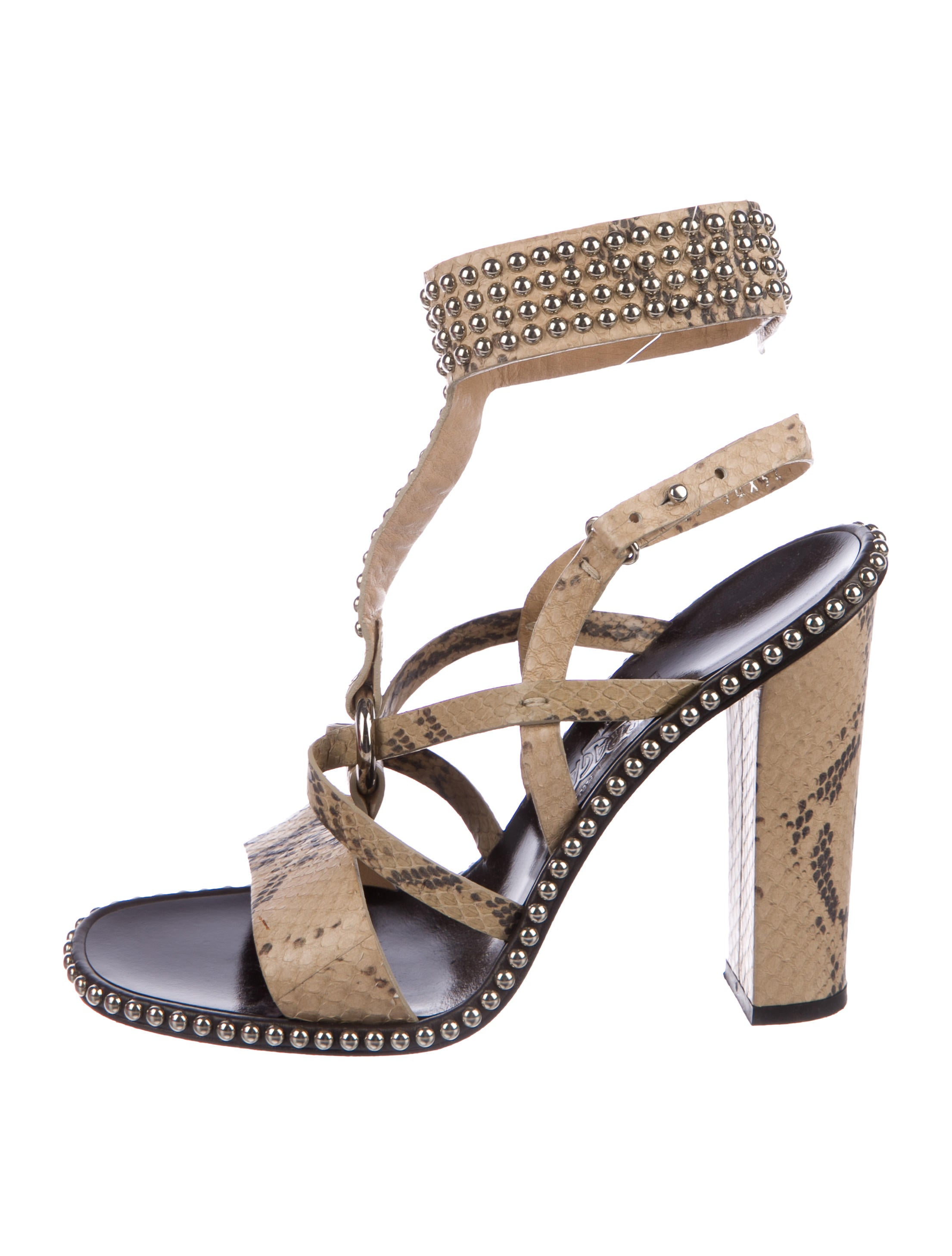 best place extremely for sale Salvatore Ferragamo Sienna Snakeskin Sandals cheap sale cost D63igW