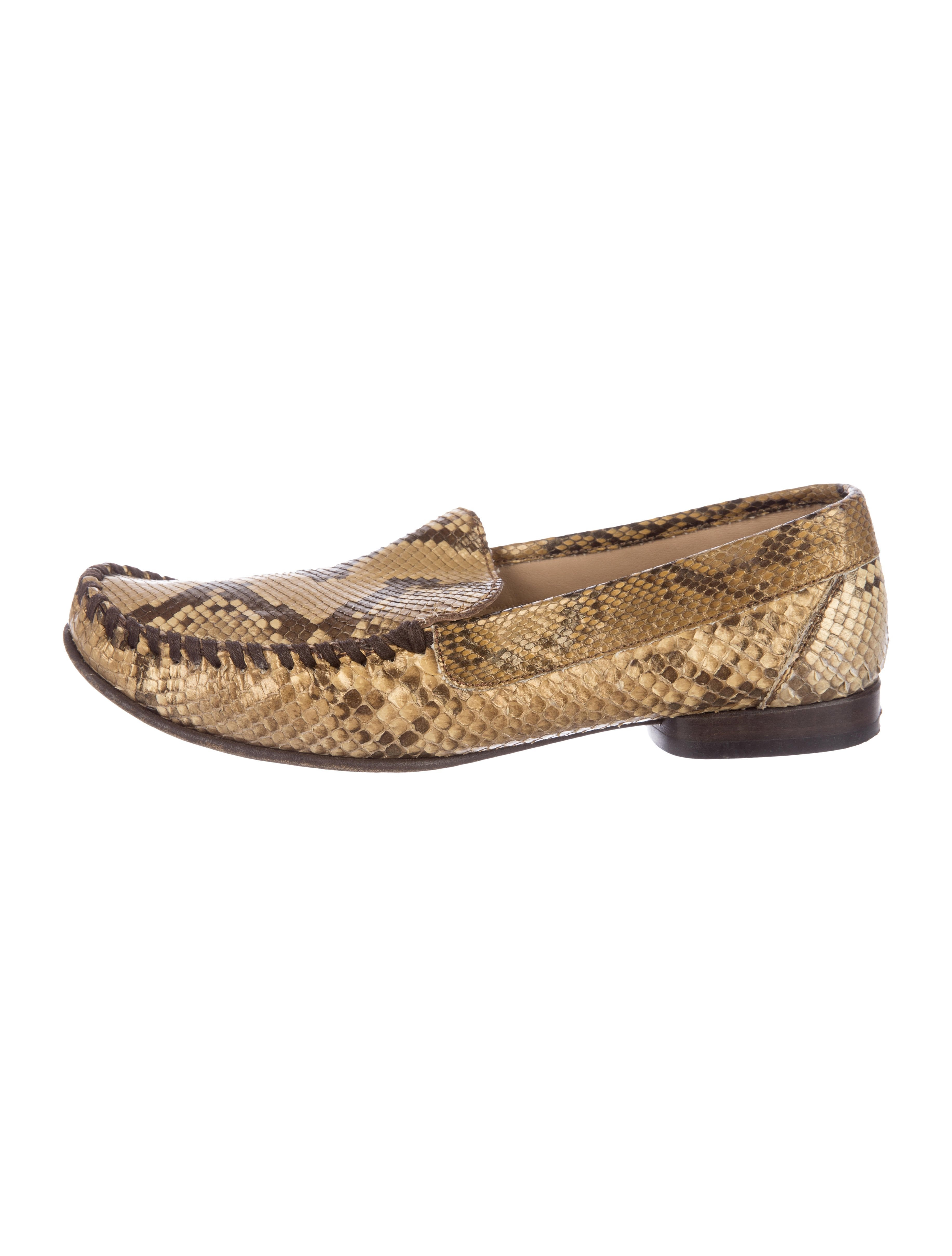 2014 new sale online free shipping Manchester Salvatore Ferragamo Snakeskin Round-Toe Loafers best seller online sale 2015 big sale sale online icuLlC