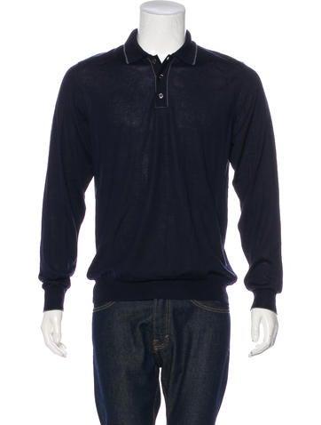 Salvatore Ferragamo Wool & Silk-Blend Polo Sweater w/ Tags None