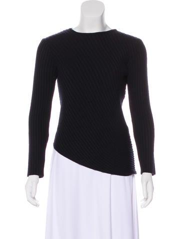 Salvatore Ferragamo Wool Rib Knit Sweater None