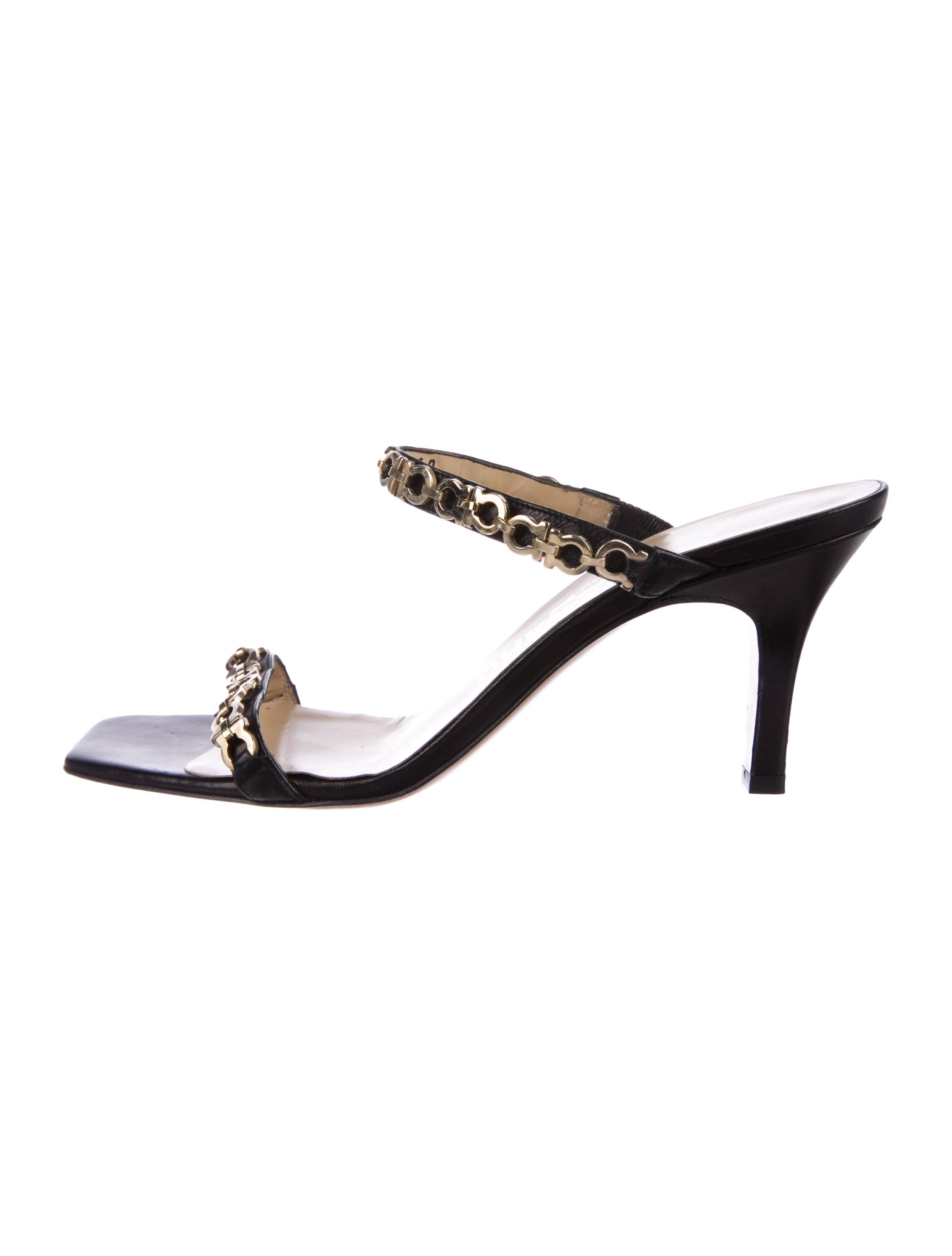 free shipping amazing price Salvatore Ferragamo Chain-Link Slide Sandals pictures cheap online discount countdown package fF4ma