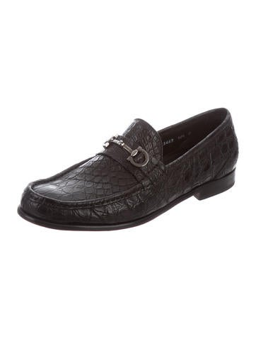 newest for sale free shipping newest Salvatore Ferragamo Crocodile Gancino Loafers shopping online free shipping cheap low price fee shipping clearance store online wh2blS1x98