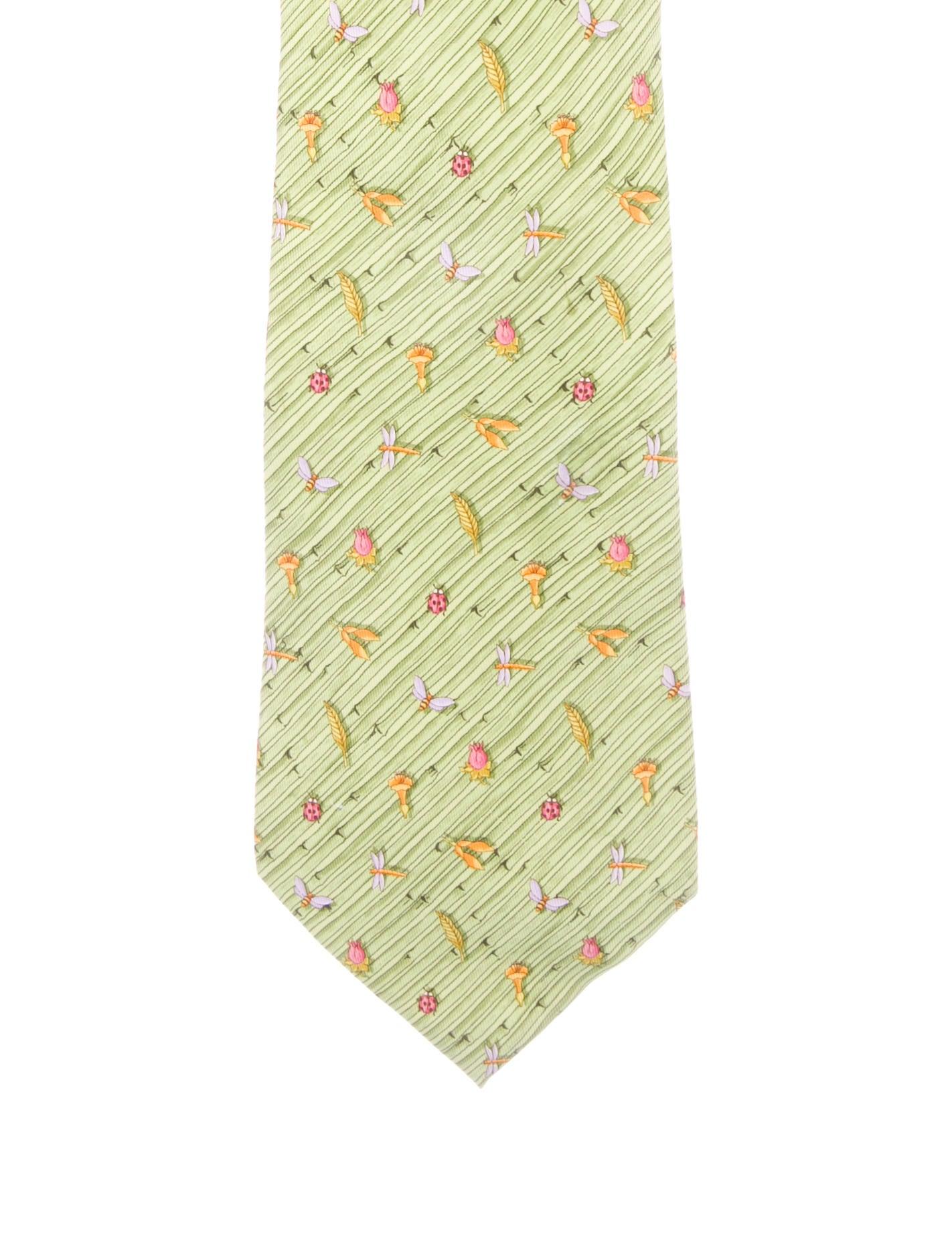 82468346e68e Salvatore Ferragamo Dragonfly Print Silk Tie - Suiting Accessories ...