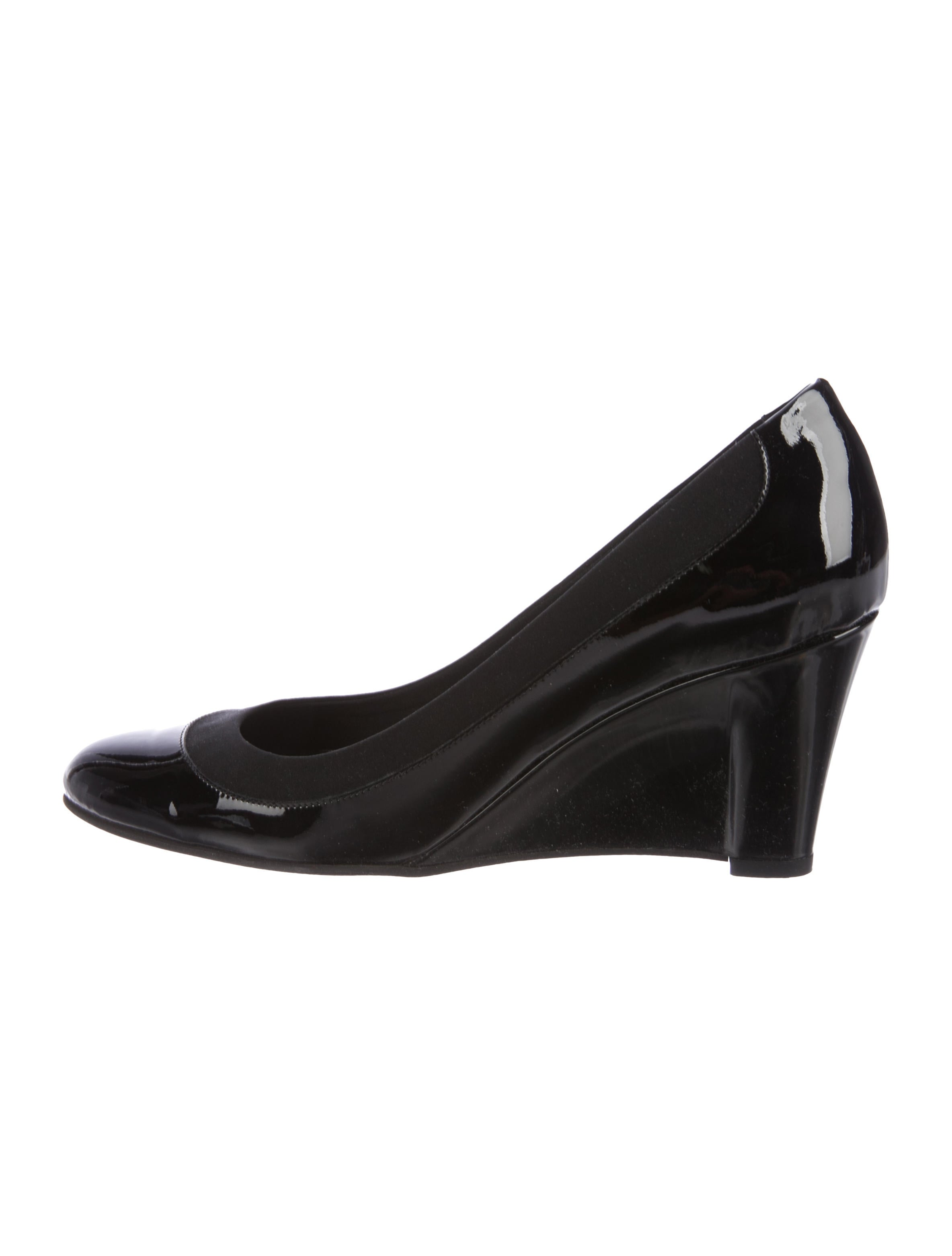 cheap sale real outlet low price Salvatore Ferragamo Navigli Patent Leather Wedges free shipping get authentic D6TBW