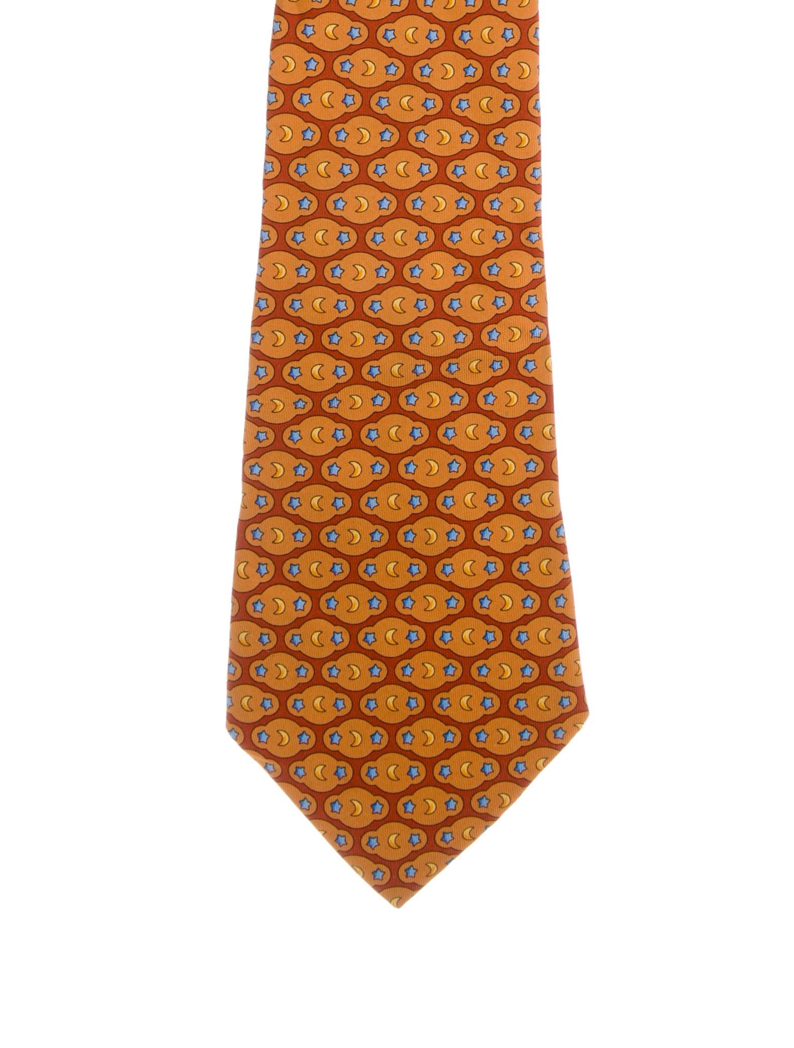 0595ad7fa18b Salvatore Ferragamo Star & Moon Print SIlk Tie - Suiting Accessories ...