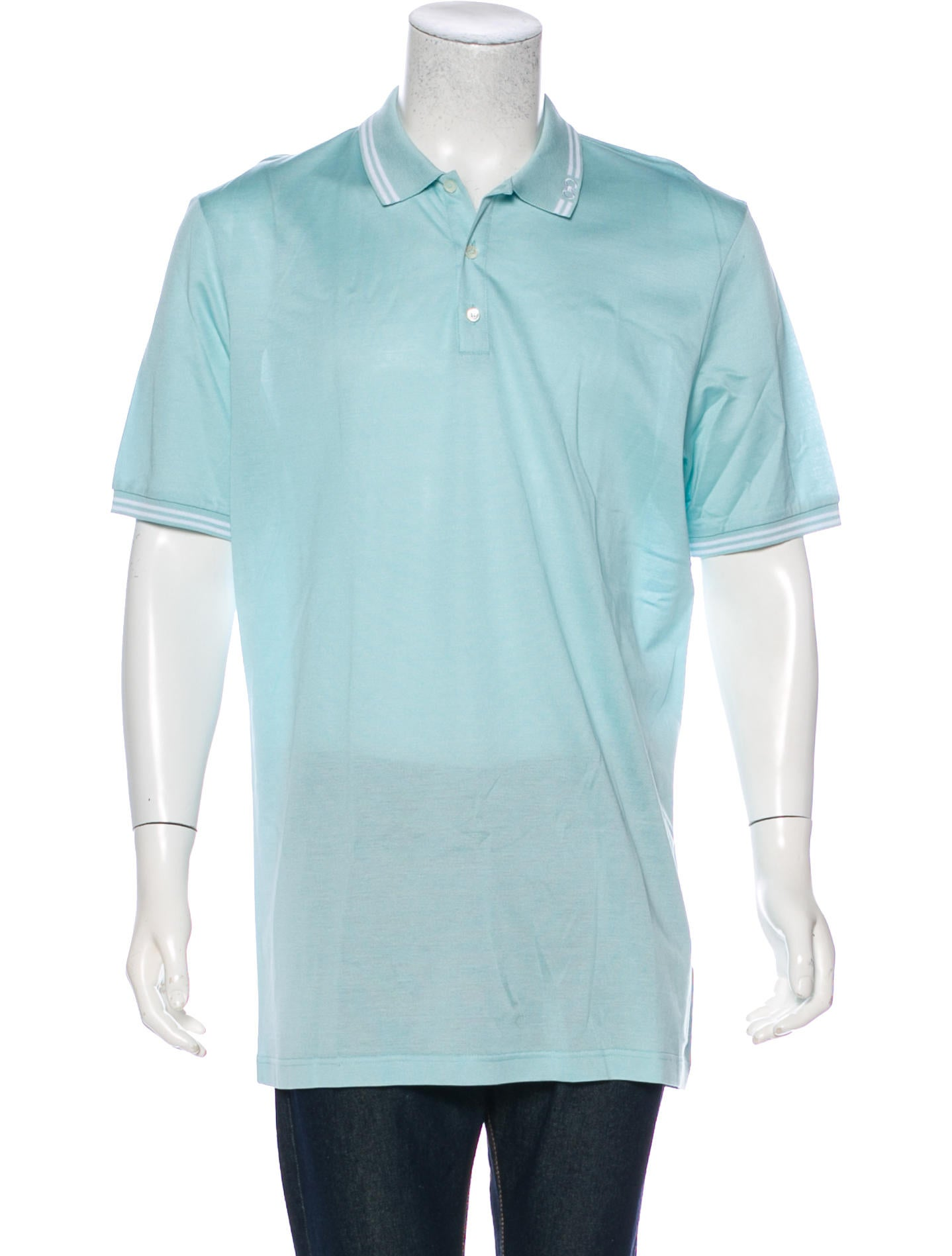 Salvatore Ferragamo Gancini Embroidered Collar Polo Shirt Clothing