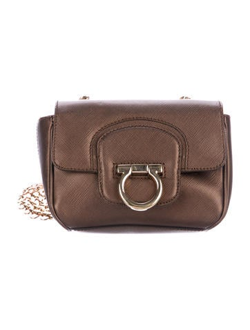 3d3e264a74fd Salvatore Ferragamo. Gancio Flap Crossbody Bag