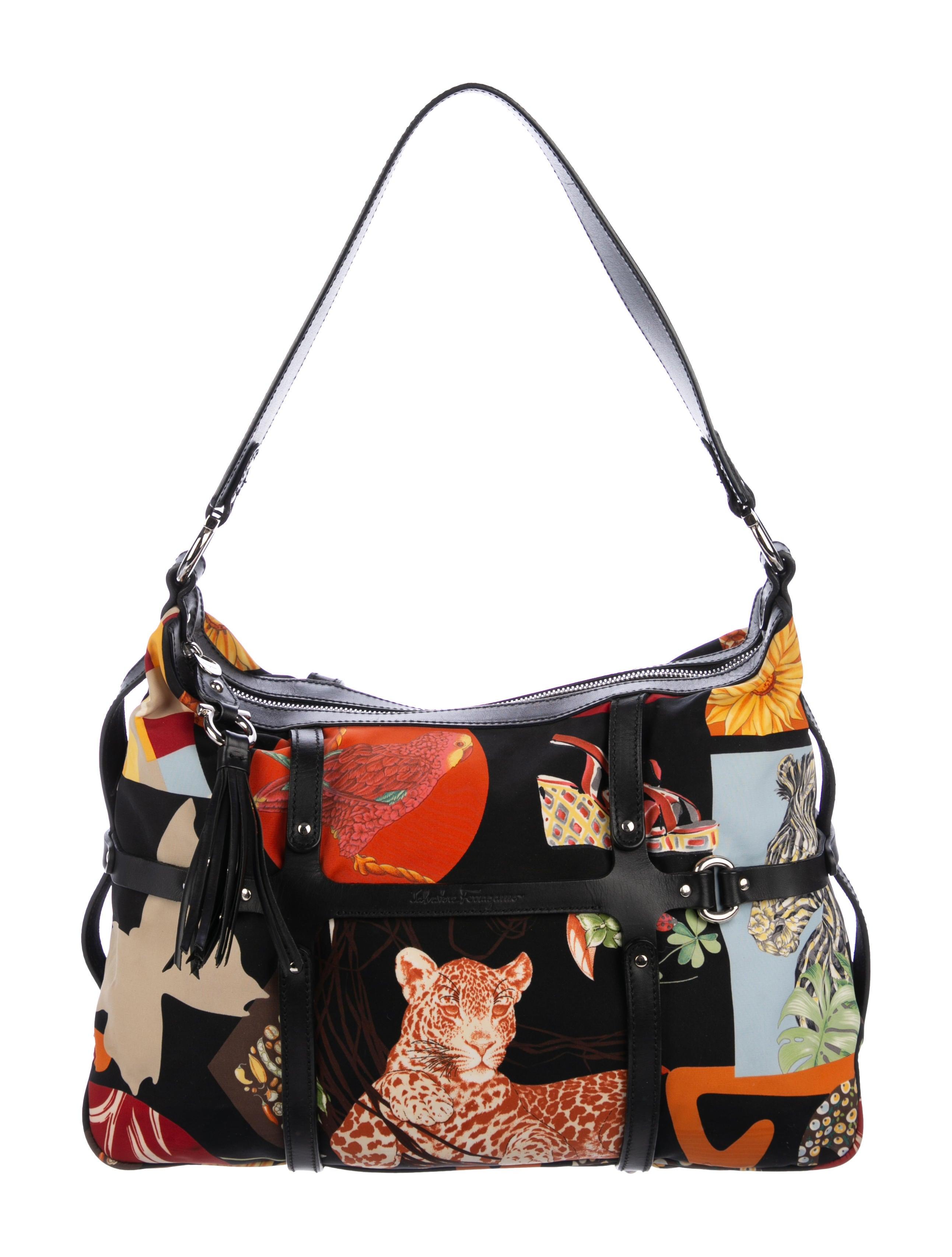 c6c7f31448 Salvatore Ferragamo Fiera Print Shoulder Bag - Handbags - SAL80714 ...