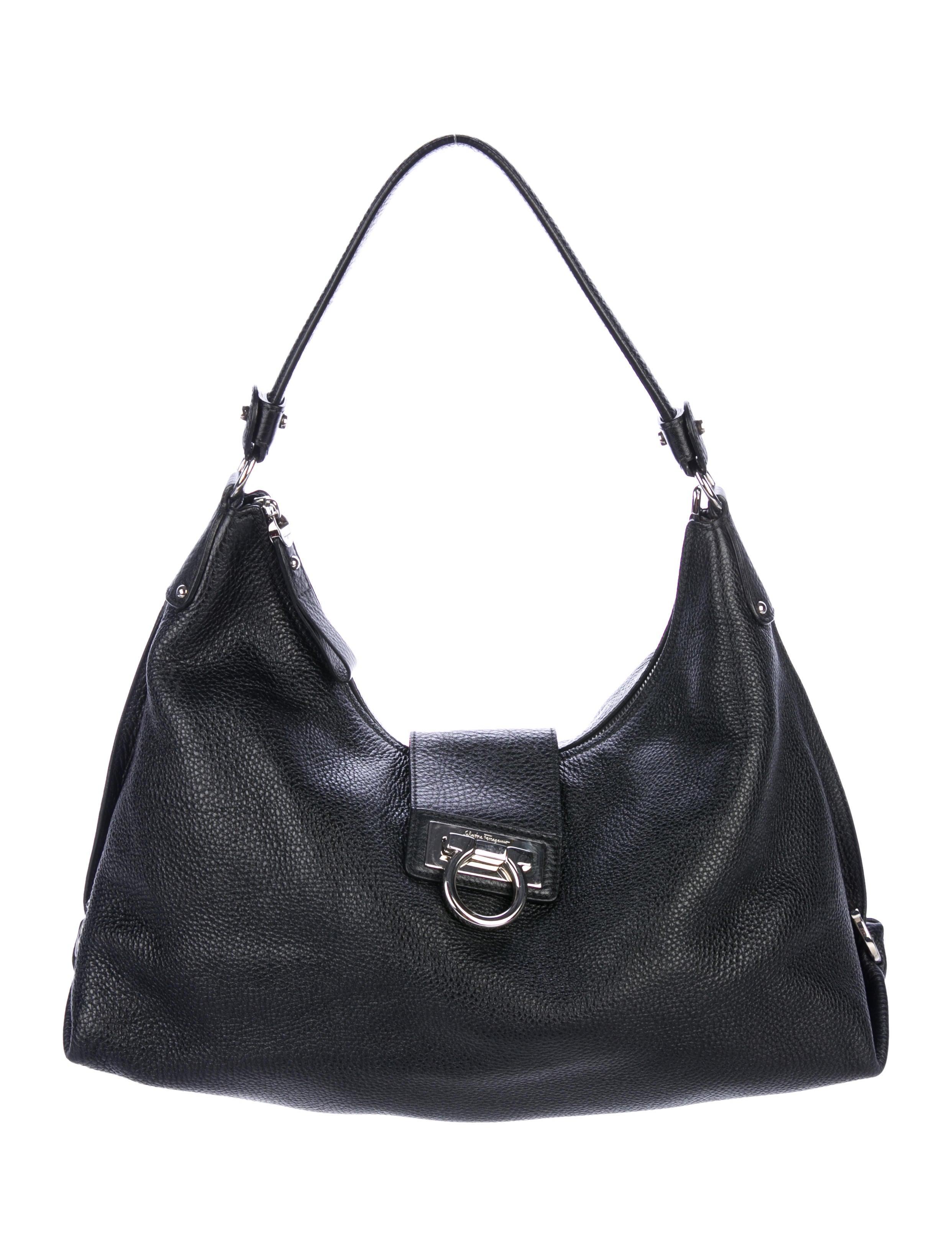 fcb463e68e Salvatore Ferragamo Gancio Leather Hobo - Handbags - SAL82050