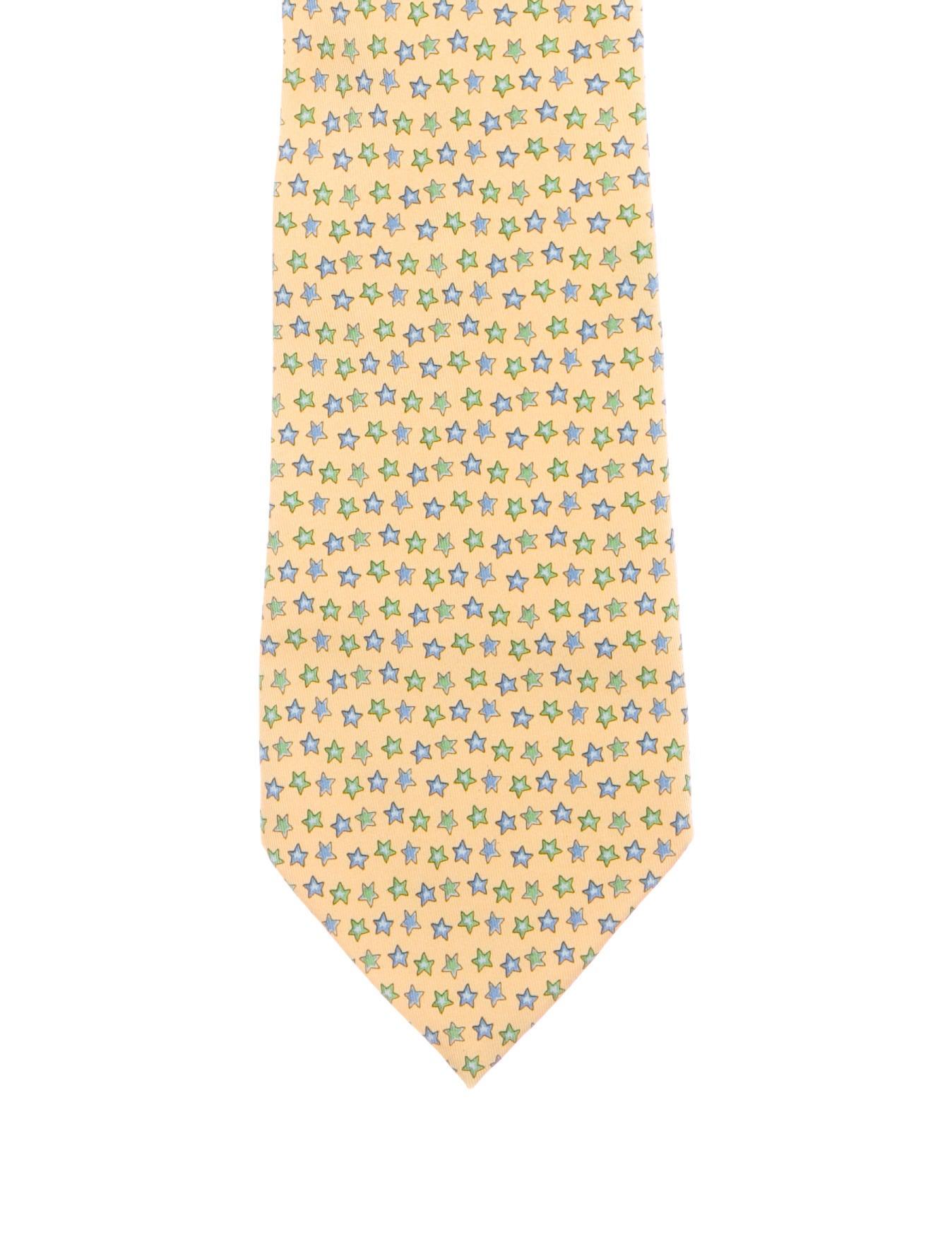 0e0c94e634ac Salvatore Ferragamo Star Print Silk Tie - Suiting Accessories ...