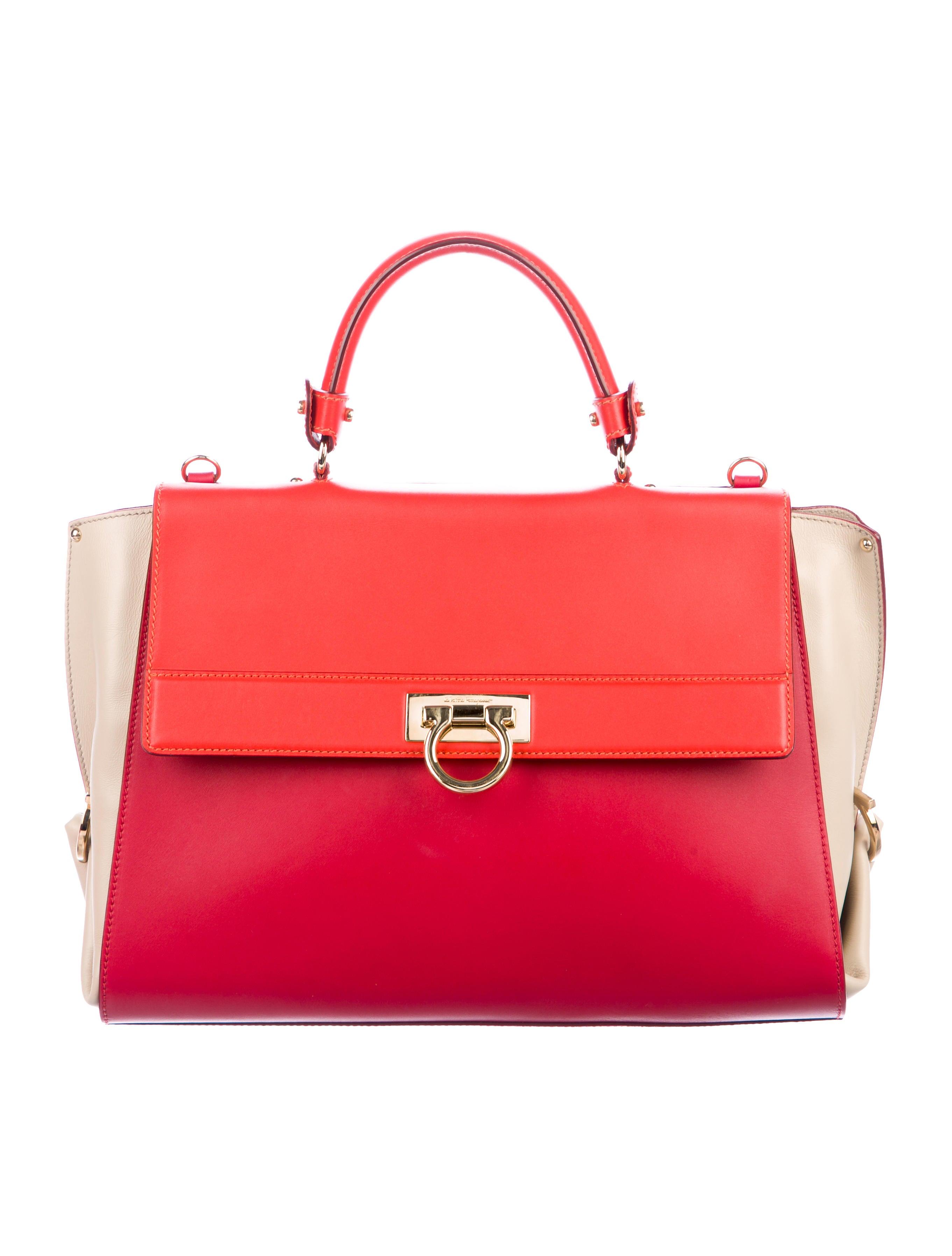 088f8c2de4 Salvatore Ferragamo Tricolor Sofia Satchel - Handbags - SAL92452 ...