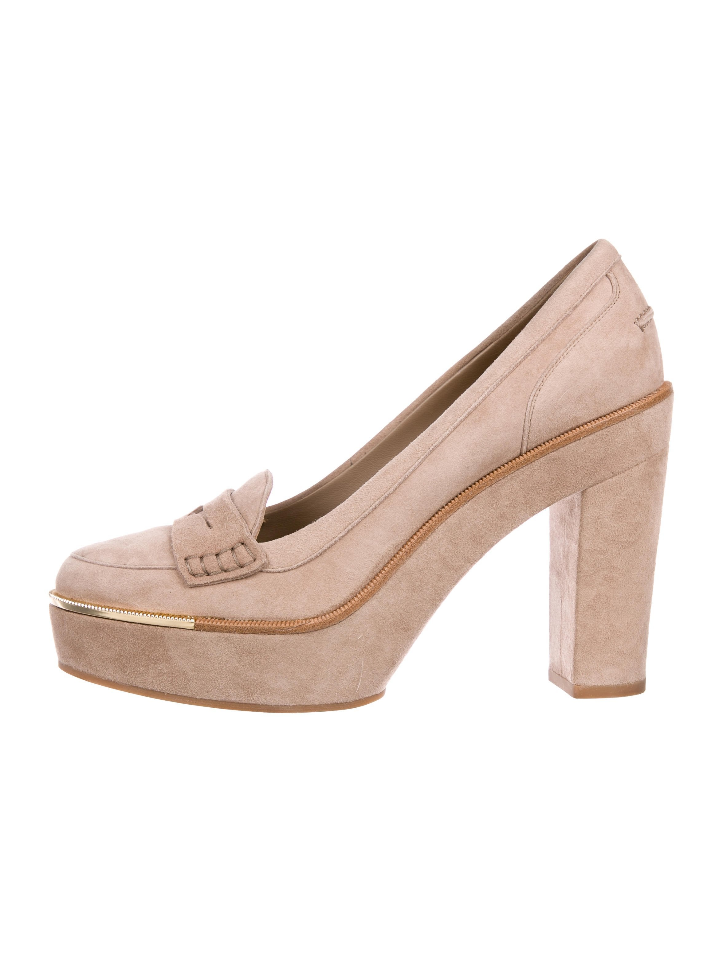 f7a00bbadfeb Salvatore Ferragamo Suede Platform Pumps - Shoes - SAL94846