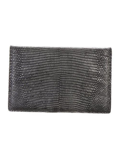 Sang A Embossed Leather Clutch Metallic
