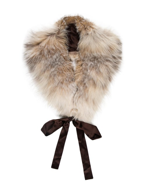 Coyote Fur Stole Brown