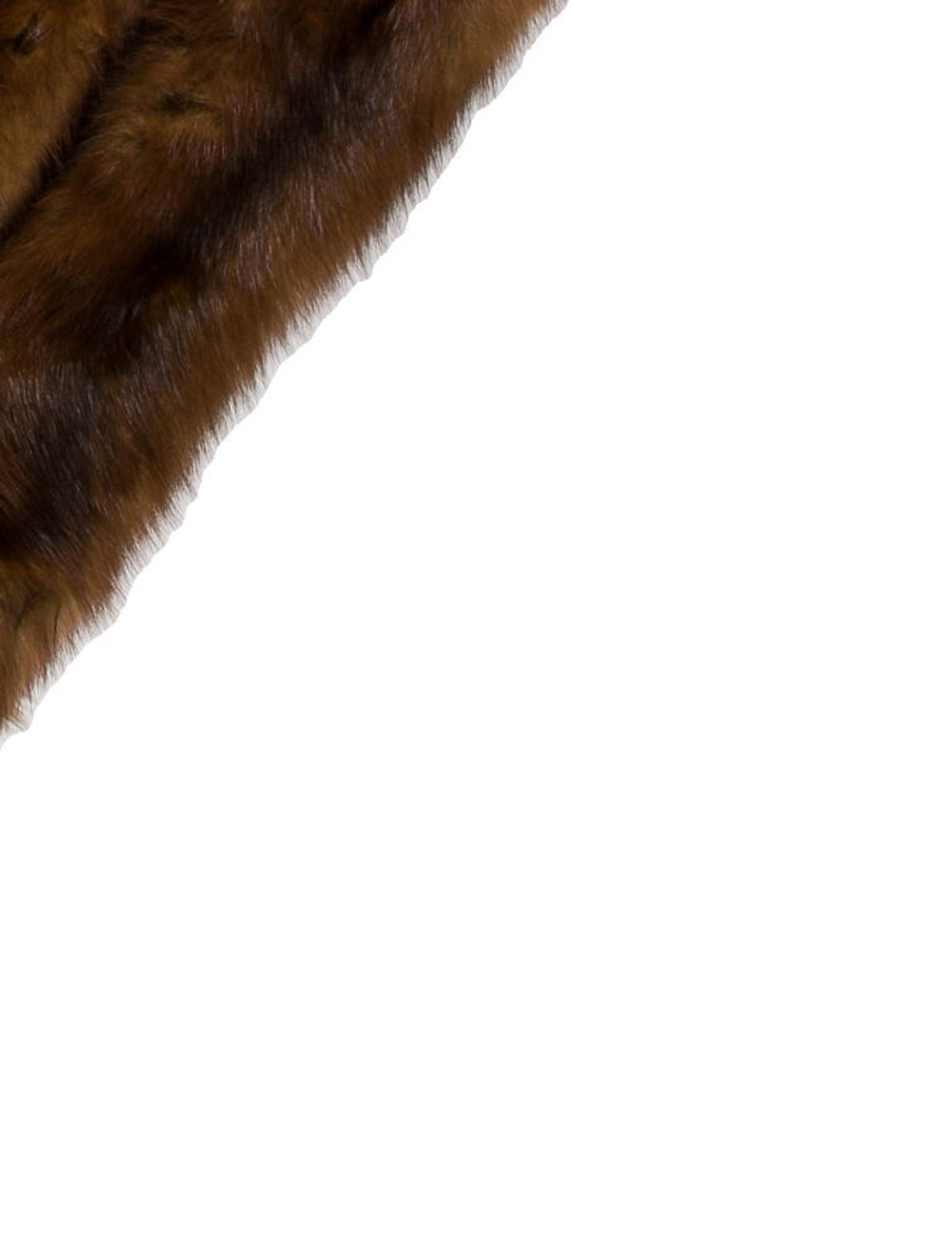 Scarf Fur Stole Brown - image 2