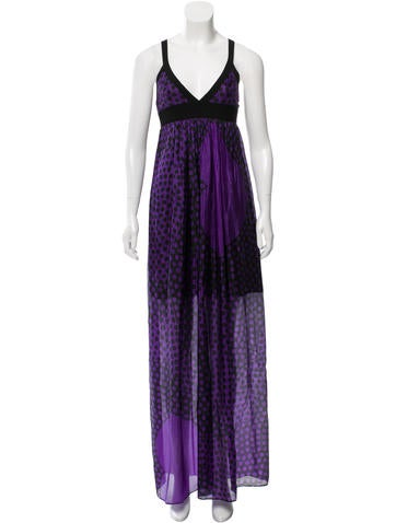 Scanlan Theodore Silk Maxi Dress None