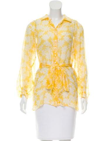 Scanlan Theodore Floral Print Silk Top None