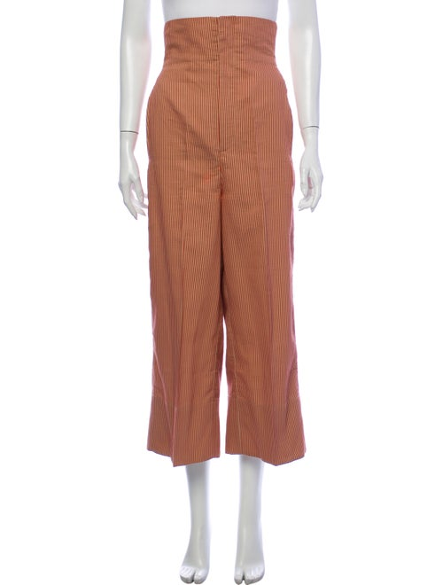 Scanlan Theodore Striped Wide Leg Pants Orange
