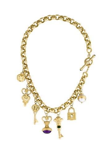 Seidengang 18K Diamond & Multistone Charm Necklace