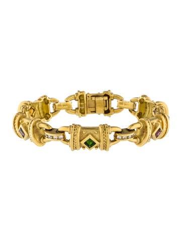 Seidengang 18K Multistone & Diamond Link Bracelet None
