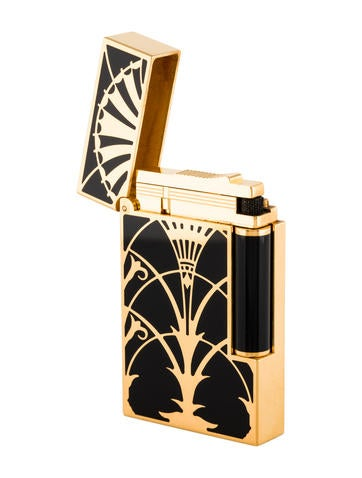 s t dupont ligne 2 art deco lighter decor and