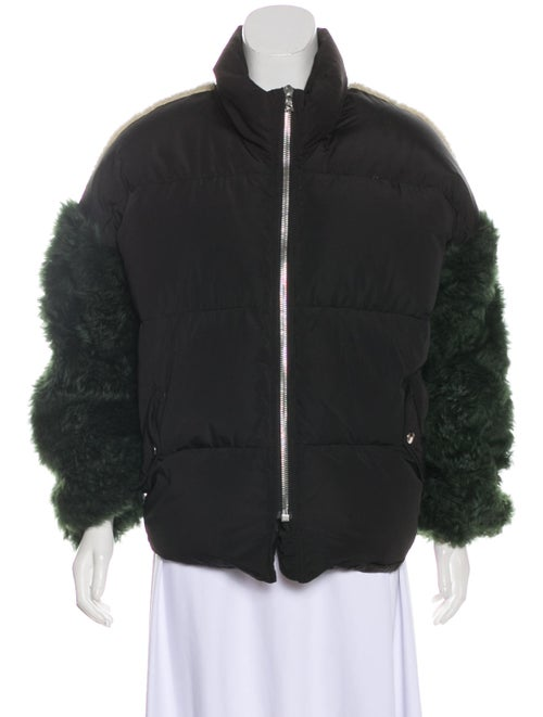 Sandy Liang Lorne Down Jacket Black