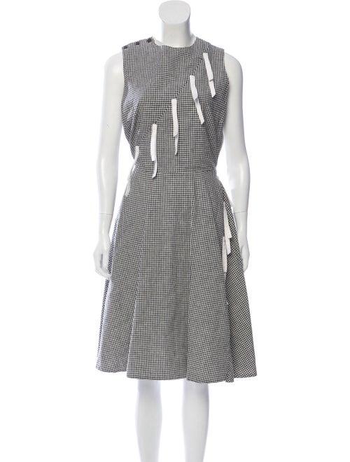 Sandy Liang Gingham Sleeveless Dress Black