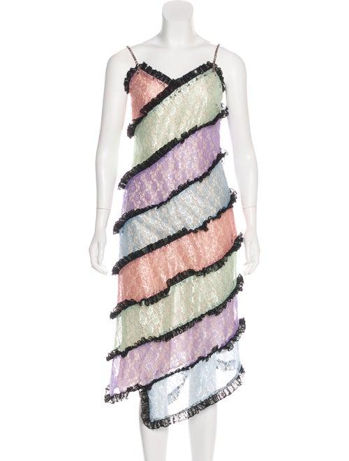 Sandy Liang Lace Asymmetrical Dress w/ Tags multic