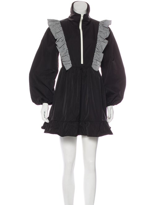 Sandy Liang Long Sleeve Mini Dress Black