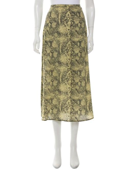 Sandy Liang Silk Midi Length Skirt Yellow