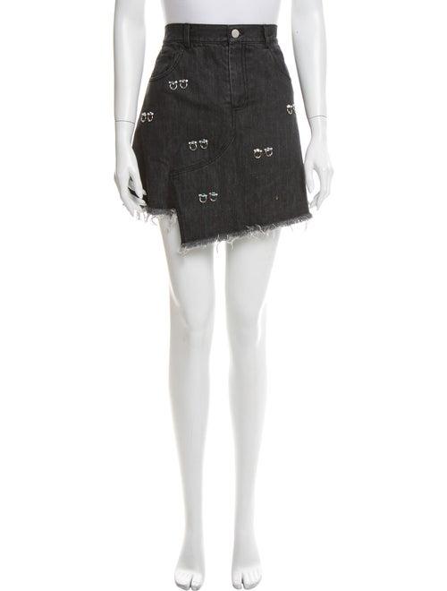 Sandy Liang Studded Accents Mini Skirt Black