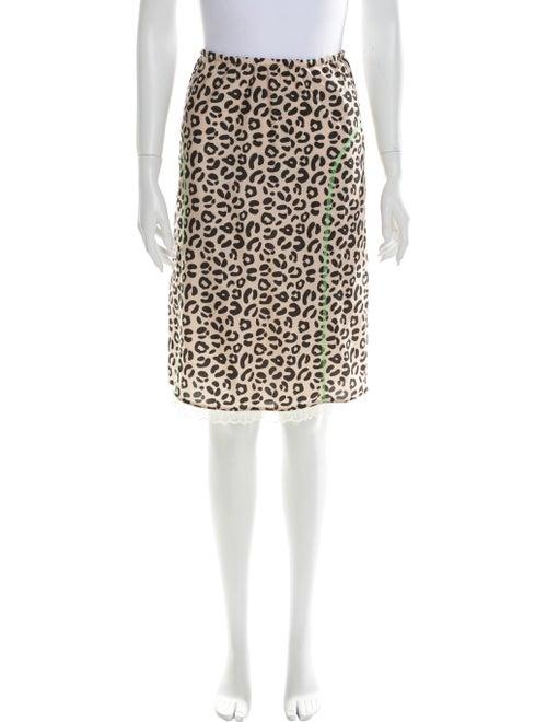 Sandy Liang Animal Print Knee-Length Skirt