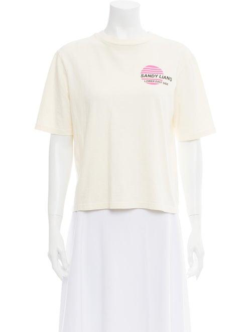 Sandy Liang Graphic Print Crew Neck T-Shirt