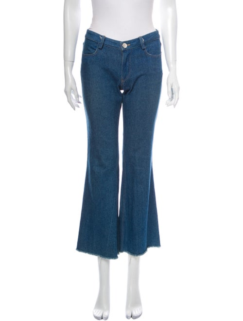 Sandy Liang Mid-Rise Flared Jeans Blue