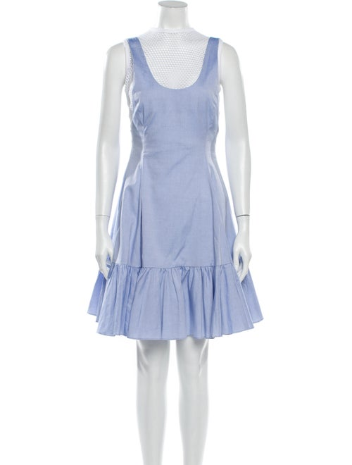 Sandy Liang Scoop Neck Knee-Length Dress Blue