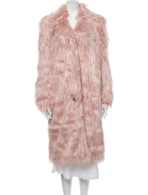 Sandy Liang Faux Fur Coat Pink