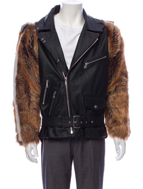 Sandy Liang Lamb Leather Jacket Black